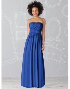 Taffeta Strapless Pleats Ruching A-line Bridemaid Dress