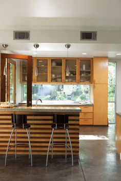 Terrific glazing in this kitchen--that window above the counter is amazing!