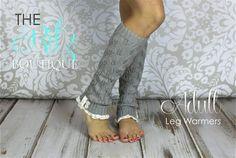 Adult leg warmers -  ruffle lace button Leg warmers boot socks $17.99