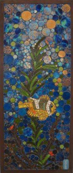 mid century mosaic tile art by katy