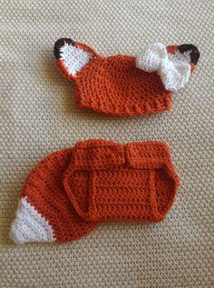 Neugeborenen Fox Outfit Babyset Fox Fox Fox Kostüm häkeln