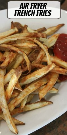 Air Fryer French Fries recipe from RecipeBoy.com #air #fryer #airfryer #french #fries #frenchfries #recipe #RecipeBoy Healthy Eating Recipes, Vegetarian Recipes, Cooking Recipes, Healthy Food, French Fries At Home, Best Selling Cookbooks, Air Fryer French Fries, Blog Food, French Fries Recipe