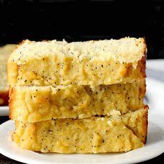 Paleo Lemon Poppy Seed Bread Pan Paleo, Paleo Baking, Gluten Free Baking, Paleo Dairy, Paleo Banana Bread, Paleo Bread, Lemon Bread, Zucchini Bread, Paleo Lemon Cake