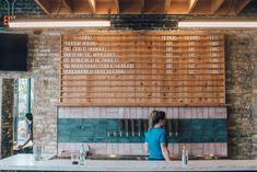 Hacienda North Ave. Taproom — Hacienda Beer Co. Brewery Design, Restaurant Design, Surf Coffee, Beer Shop, Brew Pub, Tap Room, Beer Bar, Beer Garden, Tasting Room