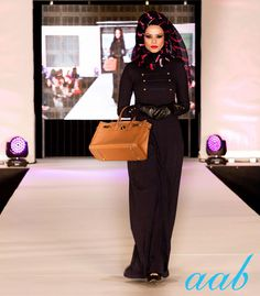Aab's First look from the fashion show at Savera Fashion Weekend Our all-time favourite, classic Brass Class gets a fresh wintery look. Team it with your Old Navy hijab, some leather gloves & a classic structured leather tote.  Stay tuned for more winter looks straight from the catwalk.