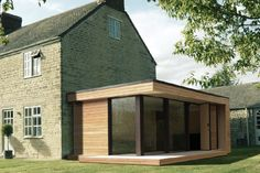 Modern and Eco-friendly Garden Office - An Ideal Solution to Working from Home House Extension Design, Glass Extension, Extension Ideas, Roof Extension, Prefab Extensions, House Extensions, Cedar Cladding, Garden Buildings, Garden Office