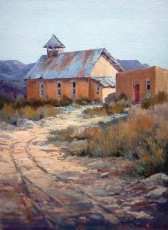 Red Door by Tina Bohlman, our March Art Challenge Third Place Winner