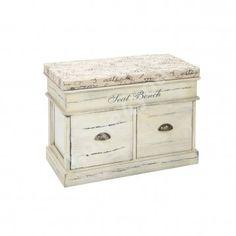 Eteispenkki MONTE, 2 laatikkoa, päältä avattava, 70x35xH50cm, antiikki beige