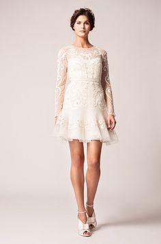 Such A Cute Short Wedding Dress With Long Sleeves Temperley Winter 2017 Sweet
