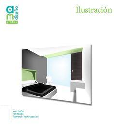 Habitación Vectorización con Illustrator