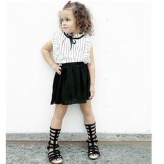 2016 summer chiffon Bow princess Shirts blouse skirts 2pcs baby girl clothes sets conjuntos infantis 3~8age  Children skirt suit