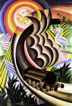 Train Born Out of the Sun. Artist: Fortunato Depero (1892–1960) Italy, 1924.