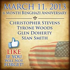 Never forget Benghazi ever