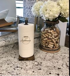 Your place to buy and sell all things handmade Paper Towel Rolls, Paper Towel Holder, Galvanized Pipe, Paper Stand, Dark Walnut Stain, Household Cleaners, Bathroom Towels, Wood Pieces, Kitchen Organization