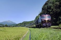 Departing from the port of Fukuoka, the luxury train travels through the northwest of Kyus...