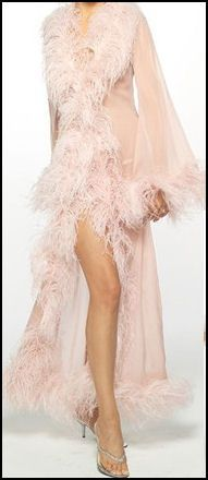 negligee with marabou feathers - Google Search