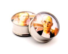 American Gothic Picture Plugs STYLE 2 gauges - 00g, 1/2, 9/16, 5/8, 3/4, 7/8, 1 inch