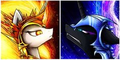 My little pony daybreaker and nightmare moon