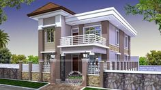house plan 2 story front porch with house front elevation tiles designs in india for ultra modern new homes - Best Home Interior Design 2 Storey House Design, Duplex House Design, Duplex House Plans, Two Storey House, House Front Design, Bedroom House Plans, Small House Design, Modern House Design, Front Elevation Designs