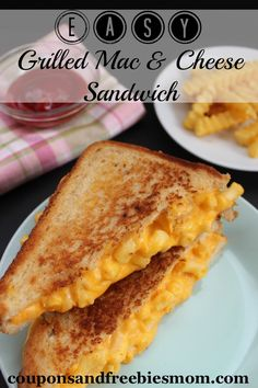 Everyone loves macaroni & cheese and of course everyone loves a toasty and gooey grilled cheese sandwich so why wouldn't you love this Easy Grilled Mac & Cheese Sandwich? With the crisp toasted bread, creamy cheese and great flavor of your favorite macaroni & cheese you can create what will become a classic sandwich made from leftovers that is perfect for cold winter day lunches!