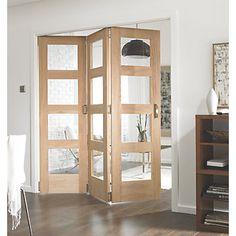 Jeld-Wen Divider Glazed 3-Door Interior Room Divider Oak Veneer 2052 x 1934mm…