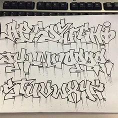 Graffiti Alphabet Styles, Graffiti Lettering Alphabet, Tattoo Lettering Fonts, Graffiti Characters, Graffiti Styles, Grafitti Alphabet, Typography, Images Graffiti, Graffiti Words