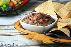 Black Bean Hummus...just made it....really good. added another clove of garlic, a little more salt.