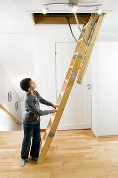 Superbe LEX30   Swedish Midmade Timber Loft Ladders