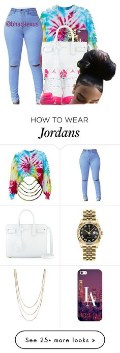 """"" by bhad-lexus on Polyvore featuring The Ragged Priest, Casetify, Savvy Cie, Rolex and Yves Saint Laurent"