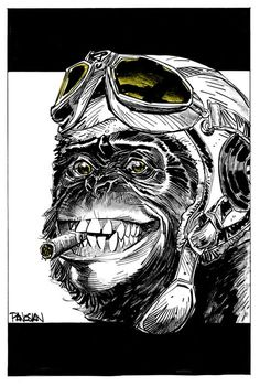 Original FYING MONKEY art by urban-barbarian.deviantart.com on @deviantART