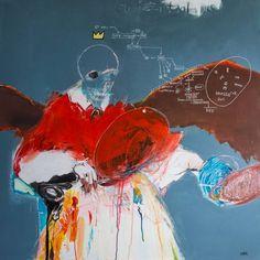 """Saatchi Art Artist: Francesco Garieri; Acrylic 2014 Painting """""""" Le quantique de st wall ... """""""""""