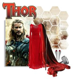 """""""Thor's Asgardian Princess"""" by miraclesnjoy ❤ liked on Polyvore featuring moda, Lucia Odescalchi, Disguise, Pamella Roland, DANNIJO, princess, thor y chrishemsworth"""