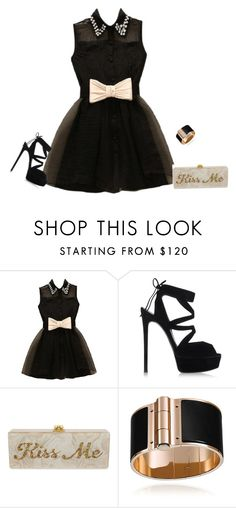 """""""outfit 3303"""" by natalyag ❤ liked on Polyvore featuring Casadei, Edie Parker, women's clothing, women, female, woman, misses and juniors"""