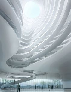 Proposed Mountain-like Taichung Convention Centre in Taiwan by MAD Architects