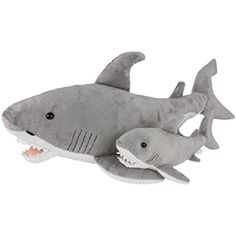 "Birth of Life Great White Shark with Baby Plush Toy 23"" Long *** For more information, visit image link. (This is an affiliate link) #PlushFigures"