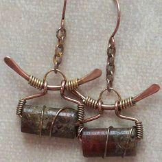 Handmade Wire Wrapped Earrings Copper Wire by ArtNSoulJewels
