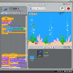 How to make a fish game in Scratch. From Redware.