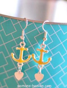 earrings, Earrings design image, earrings desings, earrings image, earrings photo, earrings picture, fashion http://www.womans-heaven.com/anchor-earrings-image-2/