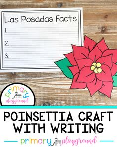 Create this beautiful poinsettia craft to go along with learning about Las Posadas during your holidays around the world unit. They look beautiful hanging in the classroom.  #poinsettiacraft #holidaysaroundtheworld #christmasaroundtheworld #lasposadas