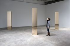 John McCracken installation showing Swift (2007), Flight (2007) and Vision (2007).