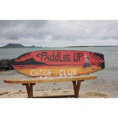 "Paddles Canoe Club | Vintage Surf Sign 40"""