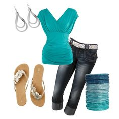 Beautiful Turquoise, created by mommie2littleones on Polyvore