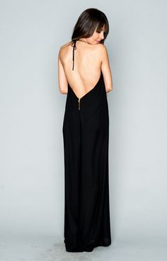 Backless black jumpsuit by Show Me Your Mumu shop here