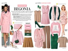 Instyle Magazine Color Crash Course - Begonia Colour Combinations Fashion, Color Combinations For Clothes, Fashion Colours, Color Combos, Wardrobe Color Guide, Instyle Magazine, Color Pairing, Capsule Wardrobe, What To Wear
