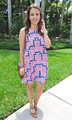 Printed Shift Dress for summer | absolutelyannie.com