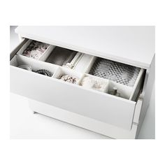 "MALM 3 drawer chest - white, 31 5/8x30 3/4 "" - IKEA"