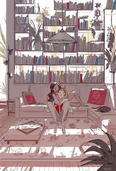 Meet me behind the bookshelf. #pascalcampion