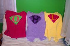 Kid's Super Hero Towel Capes