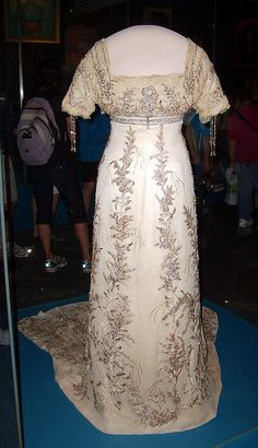 Helen Taft's inaugural gown. The first one to be donated. And I got to help install it!