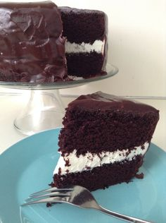 Decadent. Rich. Moist. This gluten free Better-Than-Ding-Dongs Cake will knock your socks off!